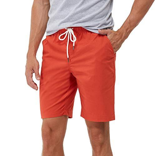 coskefy Shorts Herren (Weinrot, 3XL)