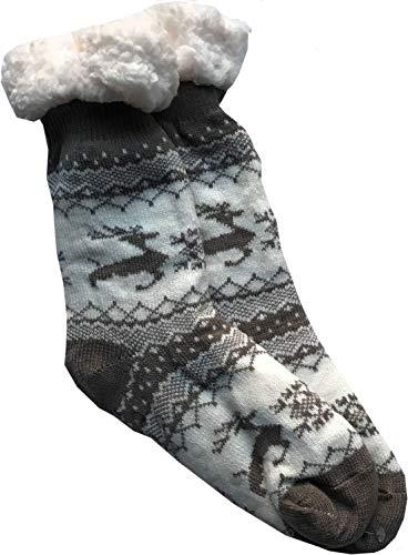 NA2 VIVA Socks - Hüttensocken verschiedene Motive - Socks Palace Edition (Weiß/Braun, 35-38)