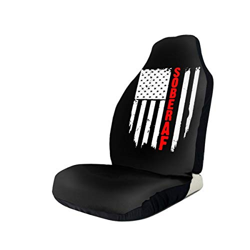 Learn More About Sober Af Sobriety Flag Car Seat Covers for Vehicles Universal 3D Printing Car Seat ...