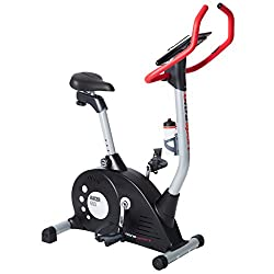 Ultrasport exercise bike ergometer, fitness bike for the individual promotion of health and fitness, ideal home trainer with training computer, pulse sensors, 8-adjustable resistance