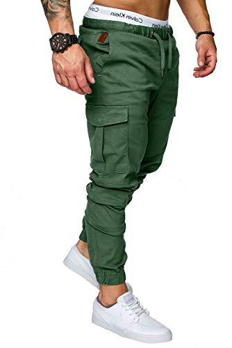 REPUBLIX Herren Cargo Jogger Chino Hose Pants Mit Stretch R0701 Khaki W32