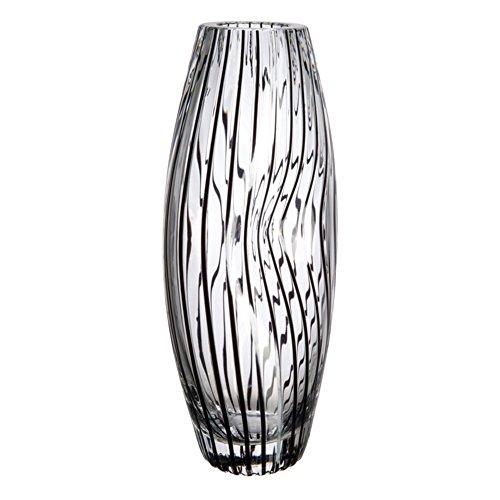 Glazen Bohemia Glee vaas, glas, zwart, 10 x 30,5 x 15 cm