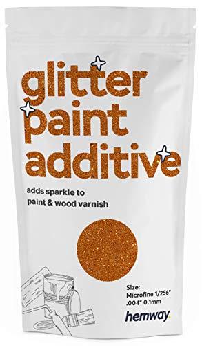 Pintura aditiva de microfina con purpurina de Hemway, emulsión a base de agua, 100 g, naranja