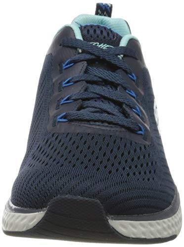 Skechers Solar Fuse Cosmic View, Zapatillas Mujer, Azul Marino Malla Borde Azul Nvbl, 37 EU