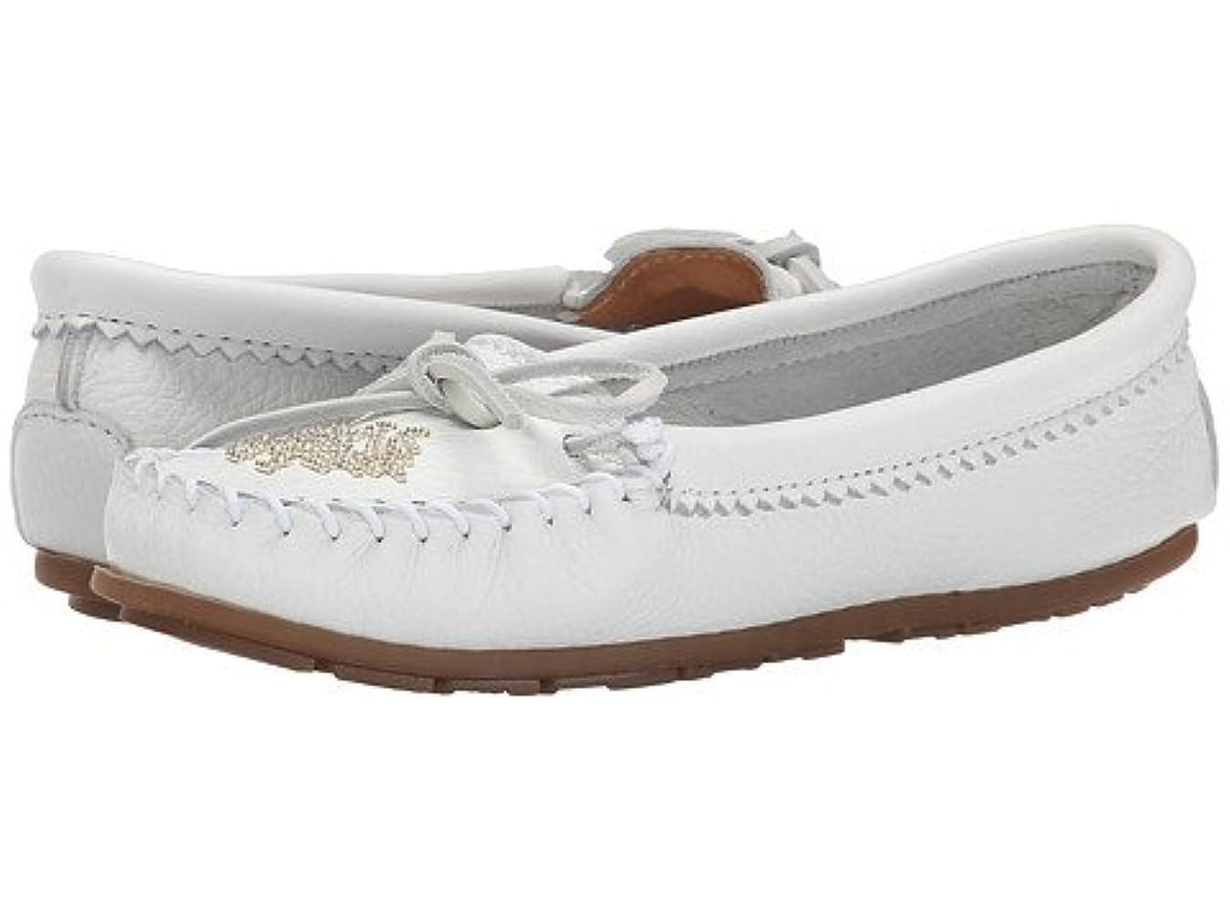 全滅させる一般的に否定する(ミネトンカ) MINNETONKA レディースローファー?スリッポン?靴 Deerskin Beaded Moc White Deerskin 7.5 24.5cm M [並行輸入品]