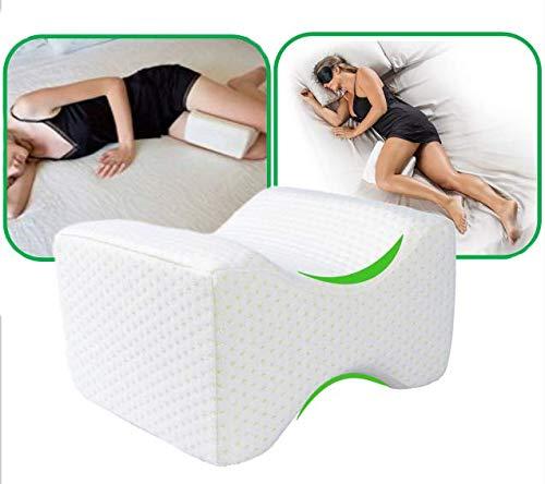 NaiyeeMars Knee Pillow, Leg Pillows, Memory Foam Pillow for Sleeping On Side, Leg Position Pillow for Sciatica Relief, Back Pain, Leg Pain, Hip & Joint Pain, Pregnancy & Side Sleeper White