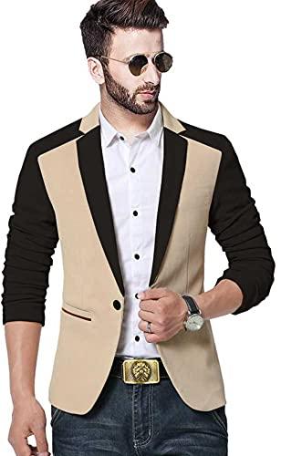 DARBAR IN Men's Slim Fit Single Breasted Blazer.(Size 36)