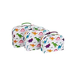 Roarsome Dinosaurs custom design Colour White, Multi Dimensions Large: L30 cm x W9 cm x H21 cm/ Medium: L25.5 cm x W8.5 cm x H18 cm/ Small: L20 cm x W8 cm x H14.5 cm Material Cardboard Paper, Steel Accessories, Steel Handle