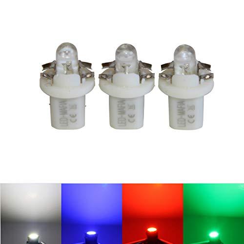 LED-Mafia® Lot de 3 éclairages ronds à hayon Rouge/blanc