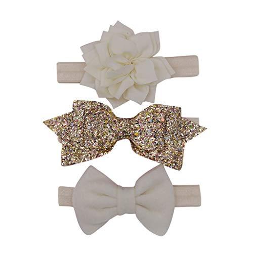 Dicomi Haarband Baby Lotus Schmetterling der Hairband Headwear Baby Haar Zusatz Kopfschmuck Knotet Beige