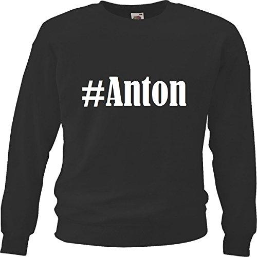 Reifen-Markt Sweatshirt Damen #Anton Größe M Farbe Schwarz Druck Weiss