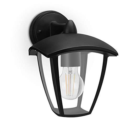Lampada da esterno, Attacco E27, IP44 Impermeabile, Lanterna Down, Vintage, Nero (Lampadina Non inclusa)