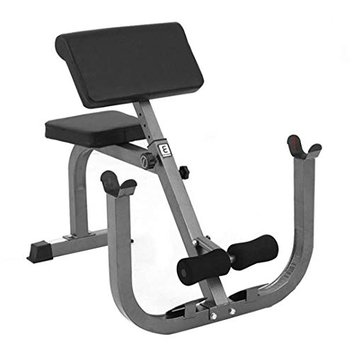 Preacher Curl Weight Bench, Seated Arm Isolated Biceps Abs Workout with Barbell Dumbbell Rack,Heavy Duty Adjustable Arm Curl Bench for Upper Limb Muscle Strength Training, Home Gym Equipments