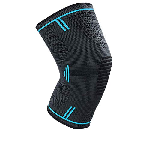 ErYao Knee Brace Support Compression Sleeves for Men and Women, 1 Pair Knee Sleeve Pain Relief Wraps Pads for Arthritis, ACL, Running, Pain Relief, Injury Recovery, Knitted Fabrics (Black M)