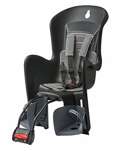 Polisport BILBY Maxi FF Fahrrad Kindersitz für hinten Schwarz Grau