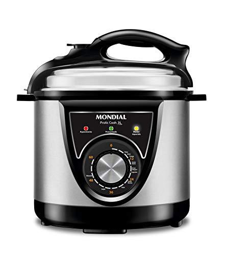 Panela de Pressão Elétrica Mondial, Pratic Cook 3L Premium, 220V, Preto, 700W - PE-26