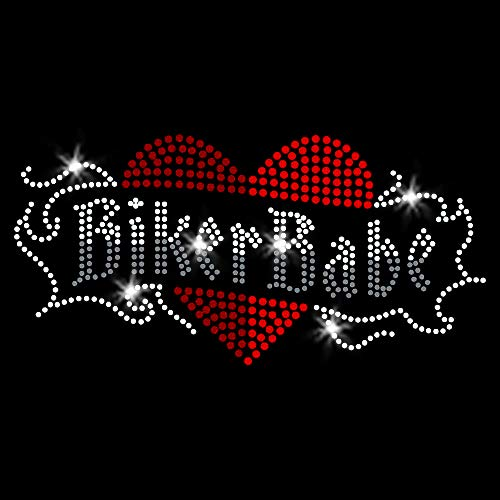 Biker Babe Iron On Rhinestone Crystal T-Shirt Transfer by JCS Rhinestones