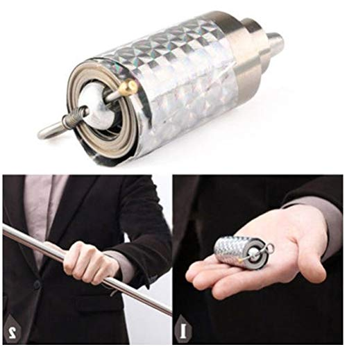 Ballylelly Bastone telescopico portatile in acciaio inossidabile Arma portatile per armi da difesa personale tasca per bacchetta magica in metallo per arti marziali