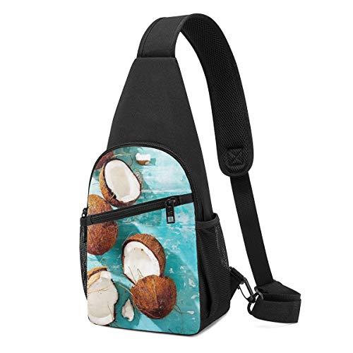 Risating Schultertasche, Kokosnuss-Wasser, Schulterrucksäcke, Taschen, Crossbody-Seil, Rucksack für Wandern, Mehrzweck-Tagesrucksäcke