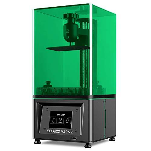 ELEGOO Mars 2 MSLA UV Photocuring LCD 3D Printer With Front USB Port, 2K Monochrome LCD Screen, UV LED Light Source, Off-Line Print, 5.1x3.1x5.9in Printing Size