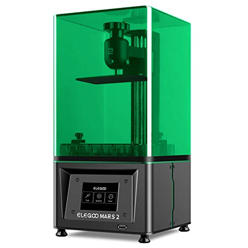 ELEGOO Mars 2 3D Printer, MSLA UV Photocuring 3D Printer, Front USB Port, 2K Monochrome LCD Screen, Matrix UV LED Light Source, Off-Line Print, 129x80x150mm Printing Size