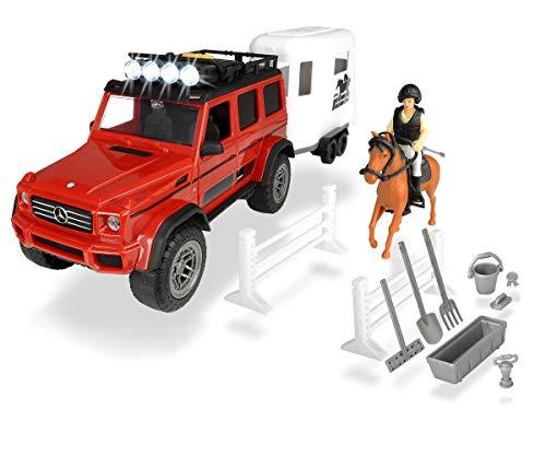 Set XL Playlife caballo AMG 500 con figura y accesorios (Dickie 3838002)
