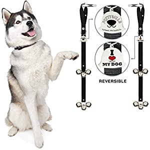 Caldwell's Pet Supply Co. Potty Bells Dog Doorbells for Housetraining Potty Training Dog or Puppy – Large Pleasant Sounding Bells Thick Durable Adjustable Strap Door Bell