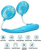 TUZECH Portable Neck Fan Hand Free Personal Fan Wearable Portable Neckband Mini Fan Lazy Neck Hanging Cooling Mini Fan USB Rechargeable Neckband Fan for Kitchen Traveling Outdoor Office