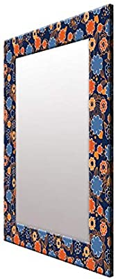 999Store Printed Multi Color Flower Pattern Mirror