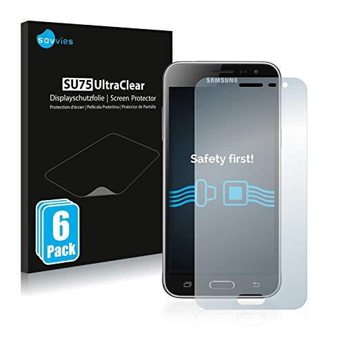 Savvies 6X Schutzfolie kompatibel mit Samsung Galaxy J3 / J3 Duos (2016) Bildschirmschutz-Folie Ultra-transparent