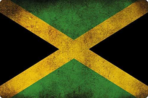 Blechschild 20x30cm gewölbt Jamaika Jamaica Flagge Fahne Deko Geschenk Schild