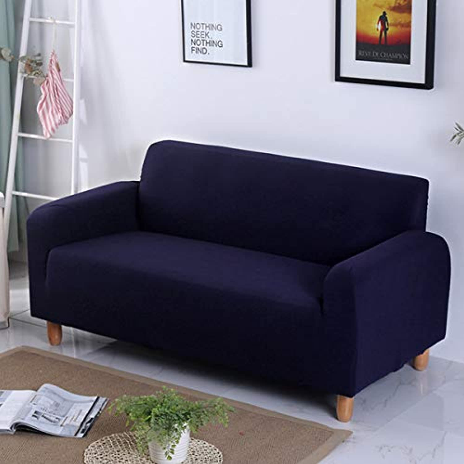 Cushions Sofa Covers for Chair Knitting Slipcover Elastic Tights Sofa Furniture Covers for Universal Armchairs Seat Couch Cover   bluee, Single Seat 90-140cm