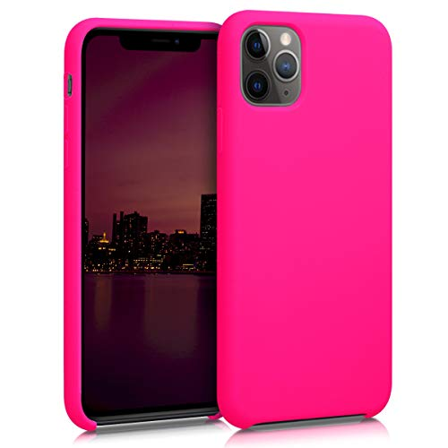kwmobile Hülle kompatibel mit Apple iPhone 11 Pro - Handyhülle gummiert - Handy Case in Neon Pink