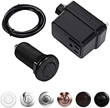 Garbage Disposal Air Switch Kit, Sink Top Switch for disposal, Plastic Black, LONG/2.5