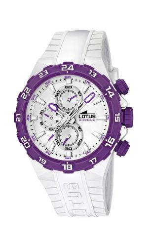 Lotus 15800/8 - Reloj analógico de Cuarzo para Mujer con Correa de plástico, Color Blanco
