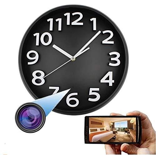 GEQWE Cámaras Espía Ocultas, 1080P HD Cámara De Reloj De Pared Cámara Spy Cámara IP Cámara De Visión Nocturna Cámara Oculta WiFi Cámara De Reloj De Pared, para Seguridad En El Hogar Y La Oficina