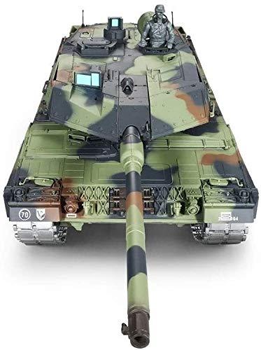 TBFEI 2,4 GHz Fernbedienung 1/16 Skala Modell Full Metal Spur Elektro RC Spielzeug Tank-Deutsch Leopard 2A6 Heavy Tank Military Fern Krieg Kampfpanzer Spielzeug Ton For Kinder Erwachsene & Kinder Gesc