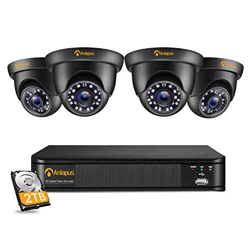 Anlapus 4K Security Camera System, 8CH H.265+ 8MP Surveillance DVR with 2TB...