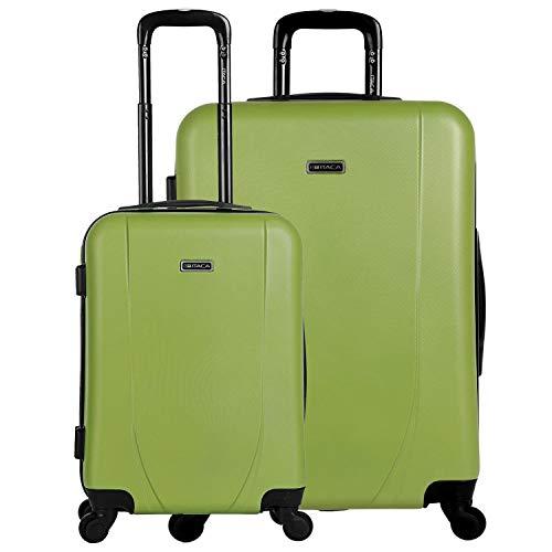 ITACA - 2er kofferset ABS. 4 wielen. Hard, robuust en licht. 2 maten: cabine 55 en XL 75. Kwaliteit op maat en mooi design. 71117, Color