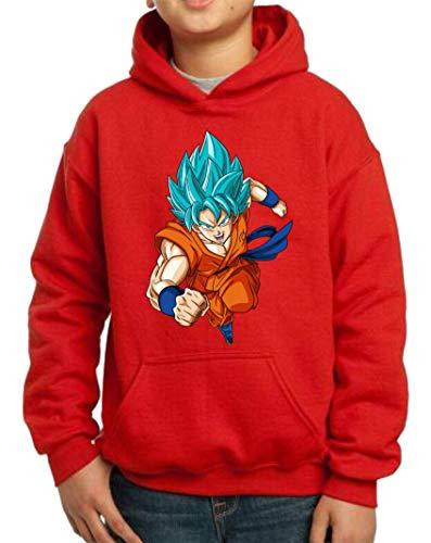 The Fan Tee Sudadera de NIÑOS Dragon Ball Goku Vegeta Bolas de Dragon Super Saiyan 076 9-11 años