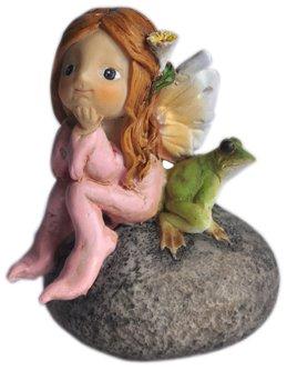 Top Collection Enchanted Story Feengarten, kleine Fee und Frosch auf Stein