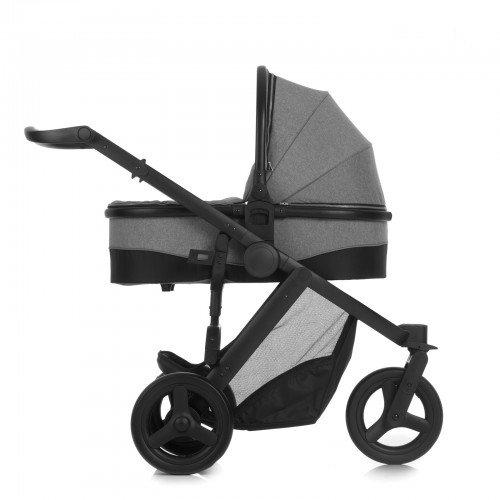 Hauck Kombikinderwagen 3 in 1 Set Maxan 3 Plus Trio Set, inkl. Babyschale Kinderautositz Gruppe 0 für Isofix Base Joggerwagen Beindecke kompakt, ab Geburt bis 22 kg, grau schwarz, Melange Stone