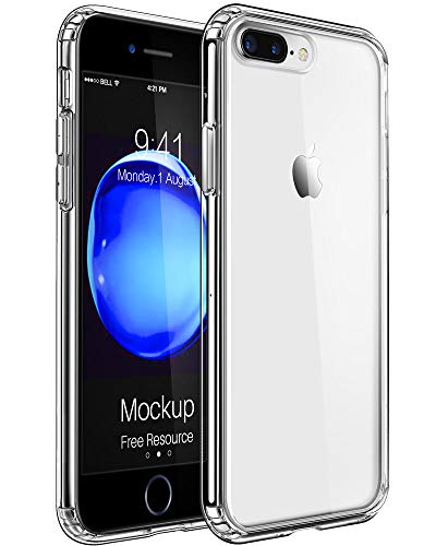 Mkeke Compatible with iPhone 8 Plus Case,iPhone 7 Plus Case Clear Shock Absorption Cases for Both iPhone 8 Plus and 7 Plus Cover