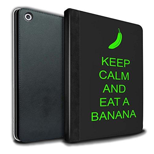 Stuff4® PU Leather Case/Case/portemonnee voor Apple iPad 9.7 (2017) Tablet/Essen een banaan/groen patroon/lood rustige collectie