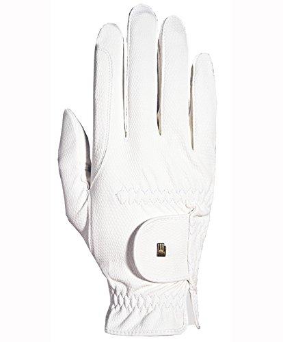 Roeckl Roeck Grip Handschuh, Unisex, Reithandschuh, Weiß, Größe 7,5