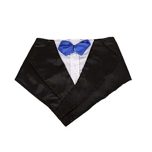 Tofern Hundehalsband Schleife Krawatte Hochzeit Kostüm Party Fliege, Blau