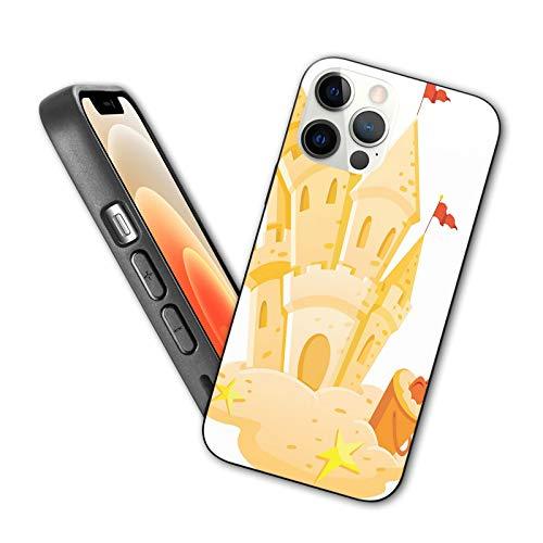 Compatible con iPhone 12 Series 2020 Castillo arena reino temporada verano pasatiempo actividad en la playa niños juego diseño para iPhone 12 6.1 pulgadas