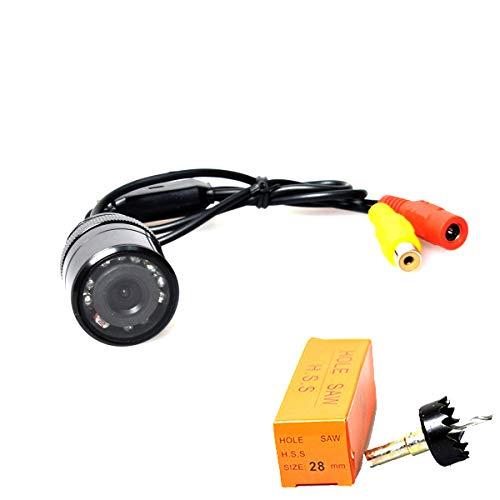 E-KYLIN - Cámara de Seguridad para Coche, Impermeable, 28 mm, perforación de Sierra Perforadora, visión Nocturna por Infrarrojos