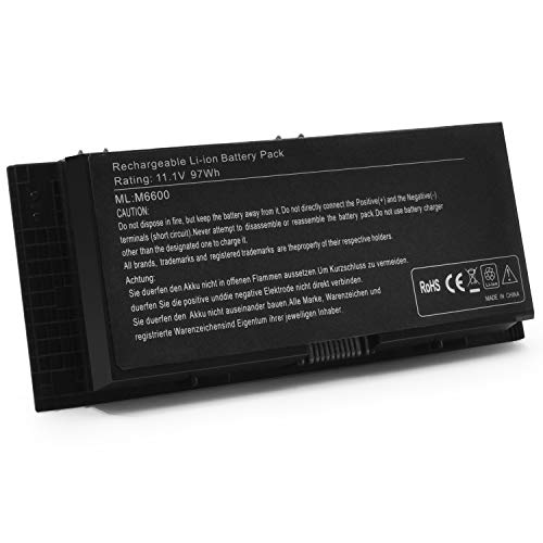 New M4800 M6800 FV993 Replacement Laptop Battery for Dell Precision M6600 M4600 M4700 M6700 Series Notebook fits FJJ4W KJ321 PG6RC V7M28 R7PND-11.1V 97Wh