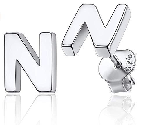 Sophisticat Personalidad de Moda 26 Letras Inglesas Pendientes de Plata Esterlina para Mujer